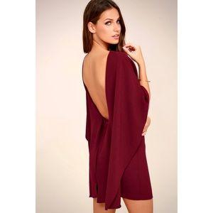 Lulu's SEXY Elegant Backless Bodycon Cape Dress